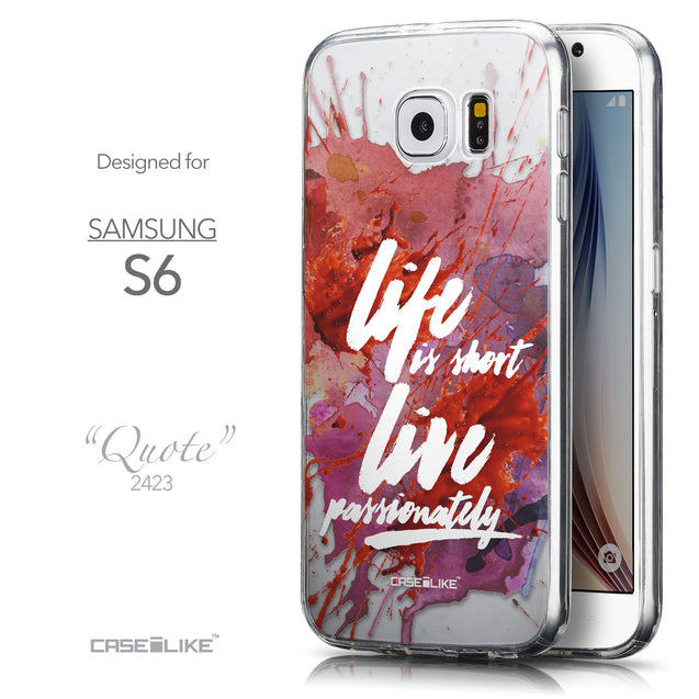 Front & Side View - CASEiLIKE Samsung Galaxy S6 back cover Quote 2423