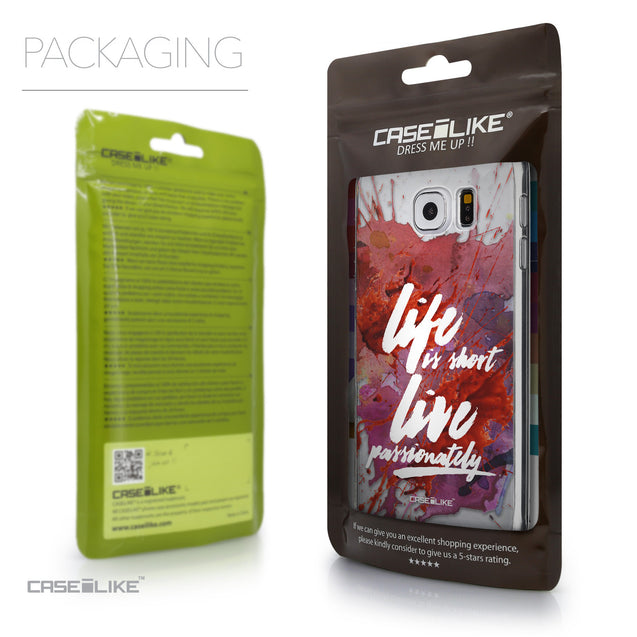 Packaging - CASEiLIKE Samsung Galaxy S6 back cover Quote 2423