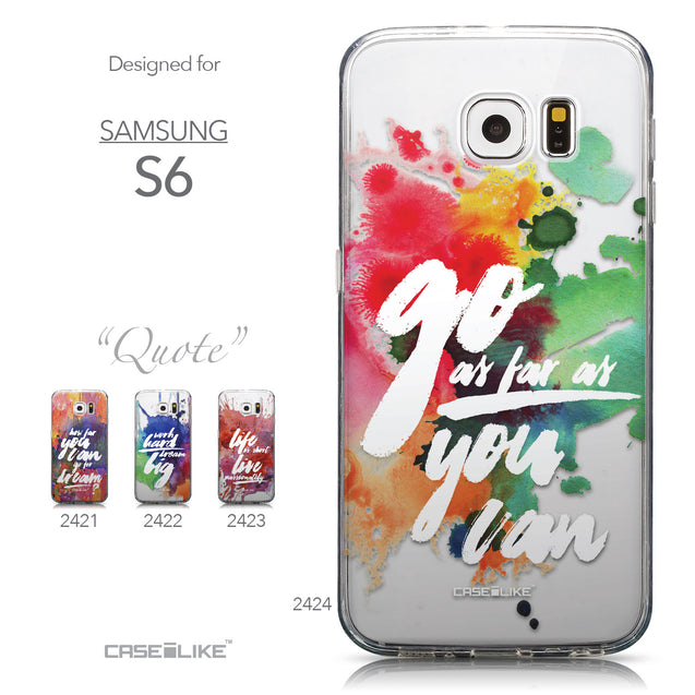 Collection - CASEiLIKE Samsung Galaxy S6 back cover Quote 2424