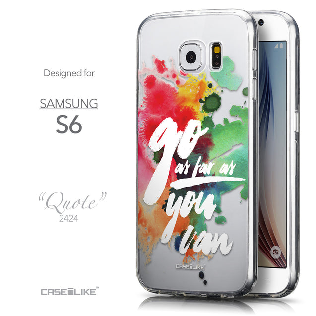 Front & Side View - CASEiLIKE Samsung Galaxy S6 back cover Quote 2424