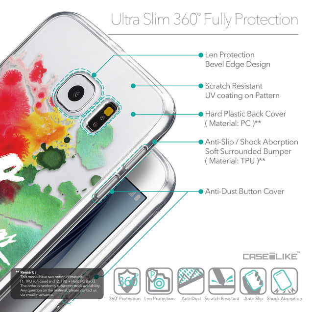 Details in English - CASEiLIKE Samsung Galaxy S6 back cover Quote 2424