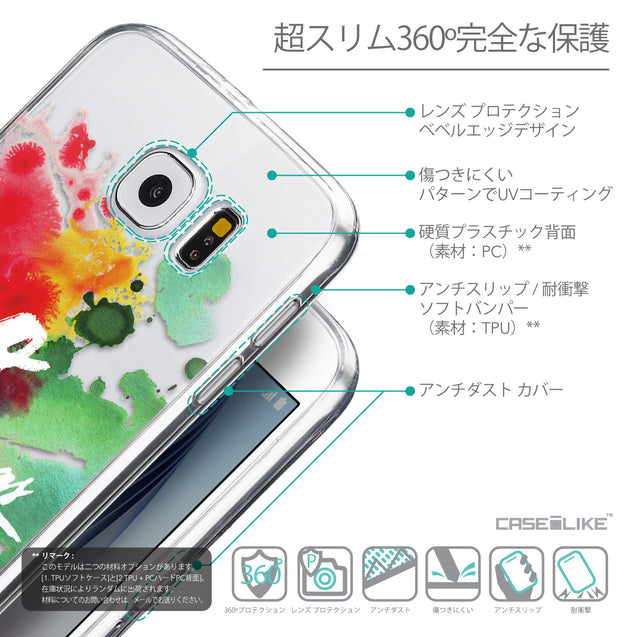 Details in Japanese - CASEiLIKE Samsung Galaxy S6 back cover Quote 2424