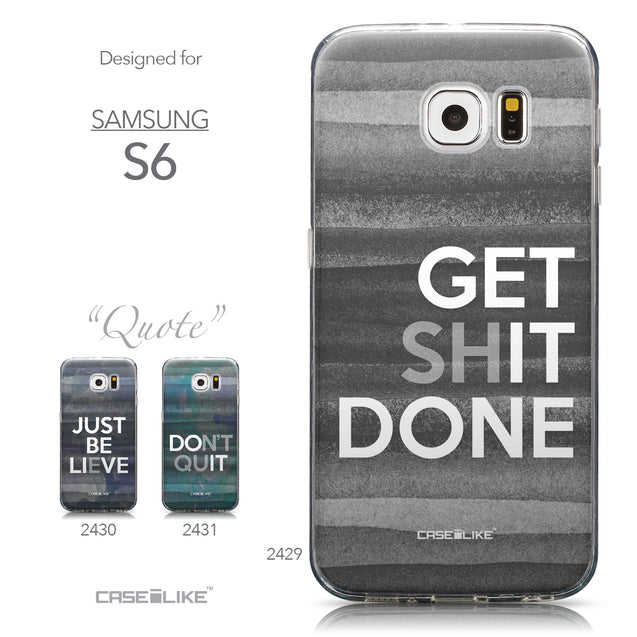Collection - CASEiLIKE Samsung Galaxy S6 back cover Quote 2429