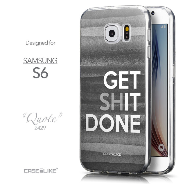 Front & Side View - CASEiLIKE Samsung Galaxy S6 back cover Quote 2429
