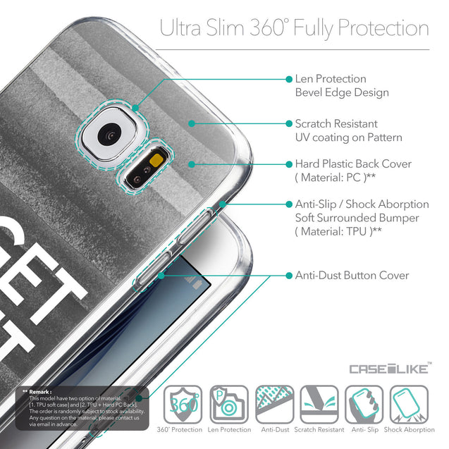 Details in English - CASEiLIKE Samsung Galaxy S6 back cover Quote 2429