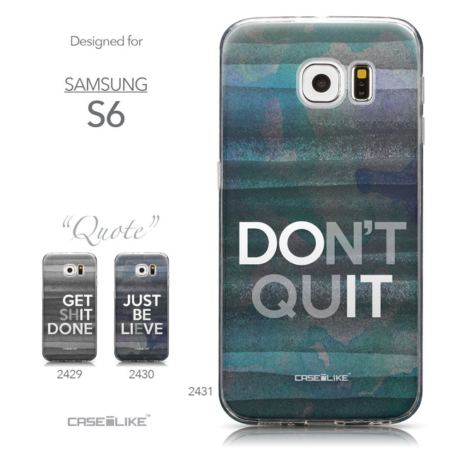 Collection - CASEiLIKE Samsung Galaxy S6 back cover Quote 2431