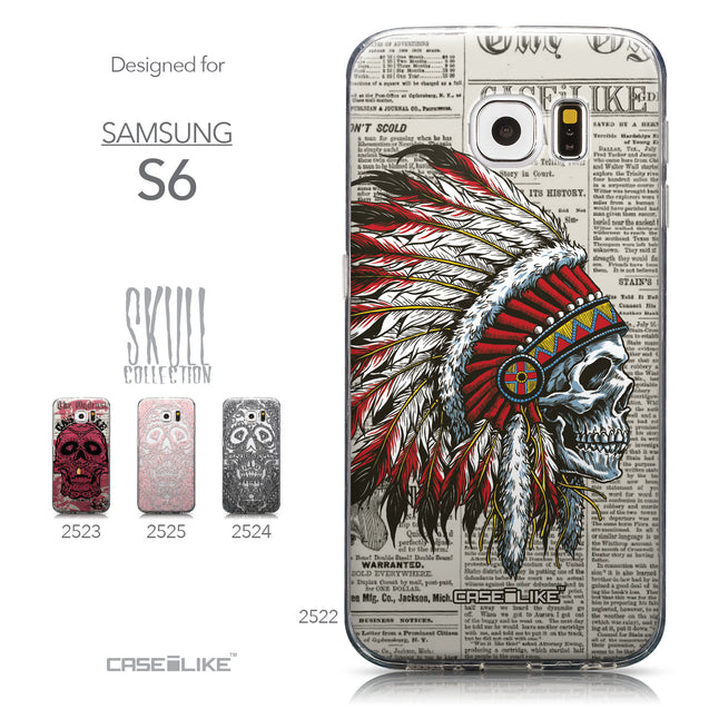 Collection - CASEiLIKE Samsung Galaxy S6 back cover Art of Skull 2522