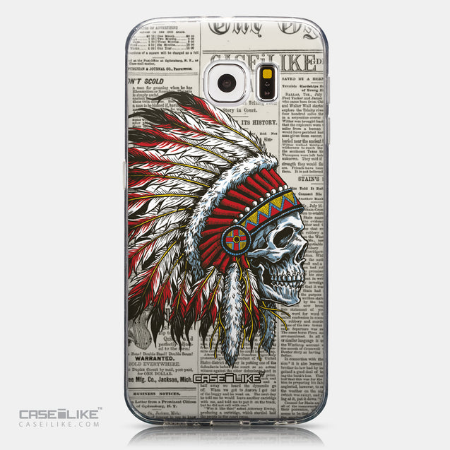 CASEiLIKE Samsung Galaxy S6 back cover Art of Skull 2522