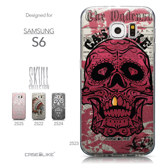 Collection - CASEiLIKE Samsung Galaxy S6 back cover Art of Skull 2523