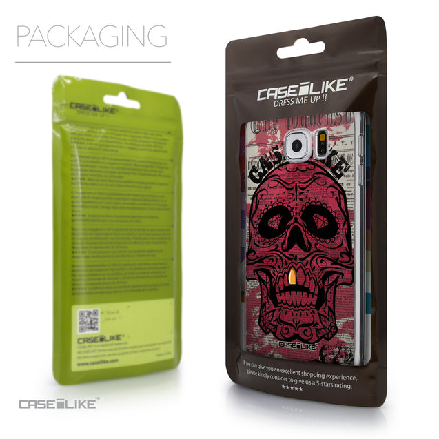Packaging - CASEiLIKE Samsung Galaxy S6 back cover Art of Skull 2523