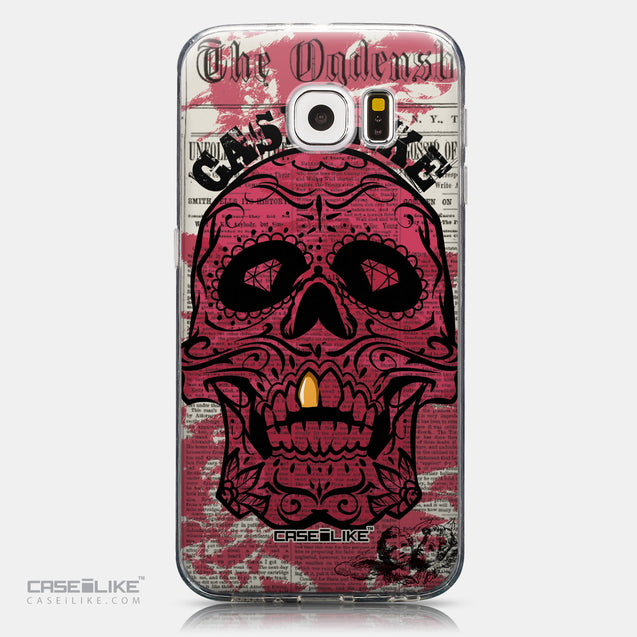 CASEiLIKE Samsung Galaxy S6 back cover Art of Skull 2523