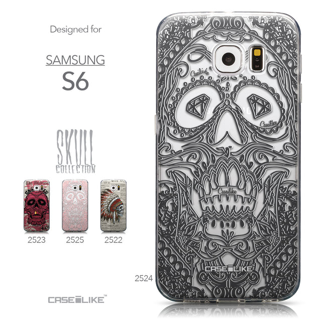 Collection - CASEiLIKE Samsung Galaxy S6 back cover Art of Skull 2524