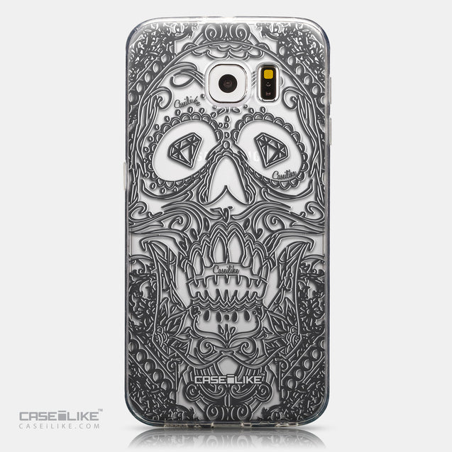 CASEiLIKE Samsung Galaxy S6 back cover Art of Skull 2524