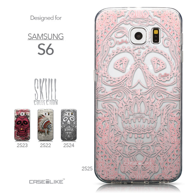 Collection - CASEiLIKE Samsung Galaxy S6 back cover Art of Skull 2525