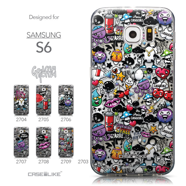 Collection - CASEiLIKE Samsung Galaxy S6 back cover Graffiti 2703