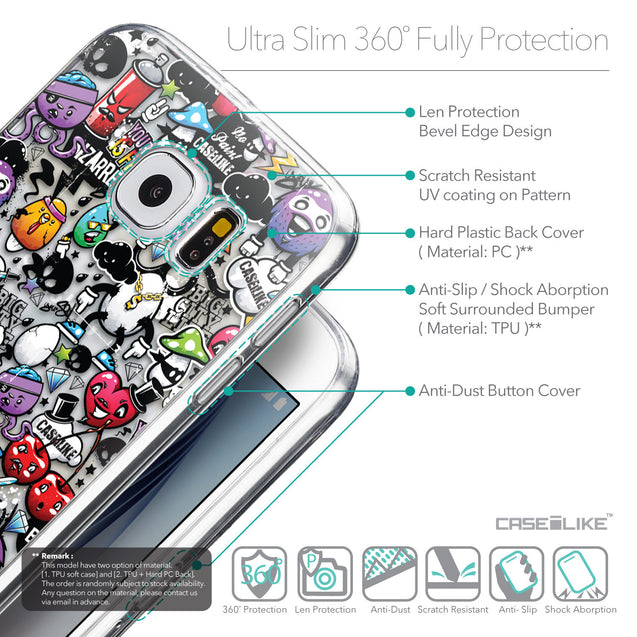 Details in English - CASEiLIKE Samsung Galaxy S6 back cover Graffiti 2703