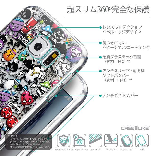 Details in Japanese - CASEiLIKE Samsung Galaxy S6 back cover Graffiti 2703