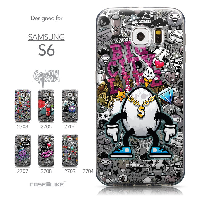 Collection - CASEiLIKE Samsung Galaxy S6 back cover Graffiti 2704