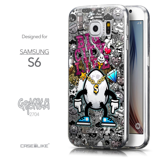Front & Side View - CASEiLIKE Samsung Galaxy S6 back cover Graffiti 2704