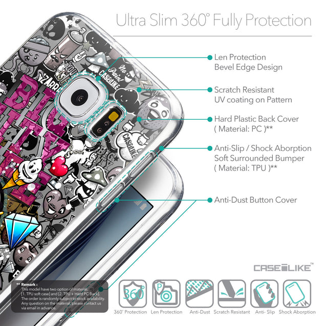 Details in English - CASEiLIKE Samsung Galaxy S6 back cover Graffiti 2704