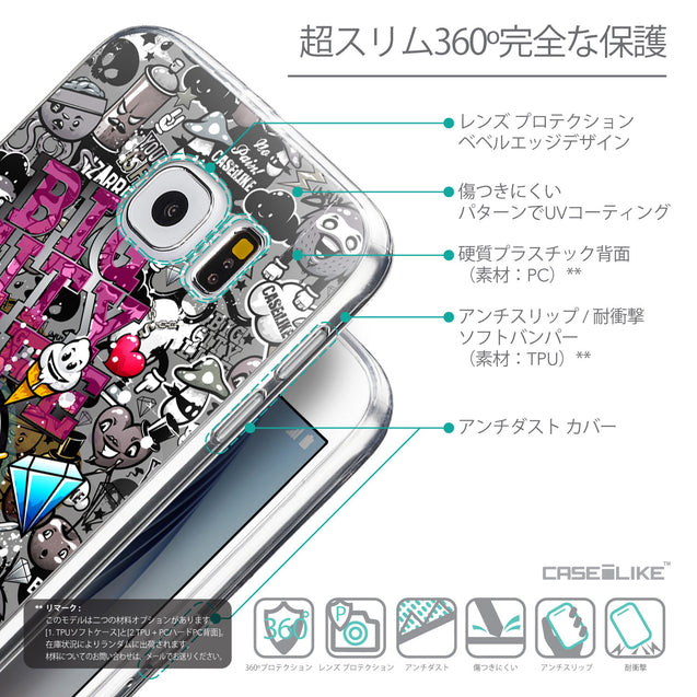 Details in Japanese - CASEiLIKE Samsung Galaxy S6 back cover Graffiti 2704
