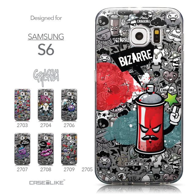 Collection - CASEiLIKE Samsung Galaxy S6 back cover Graffiti 2705