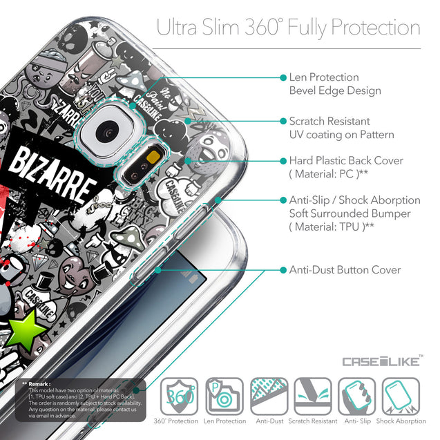 Details in English - CASEiLIKE Samsung Galaxy S6 back cover Graffiti 2705