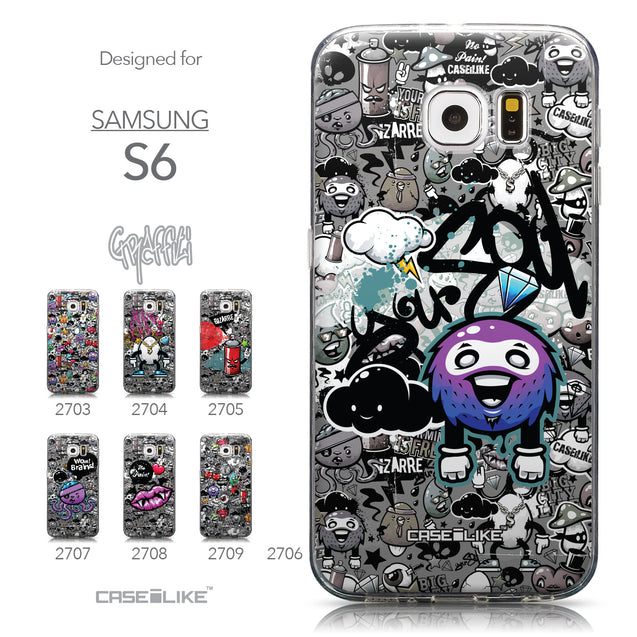Collection - CASEiLIKE Samsung Galaxy S6 back cover Graffiti 2706