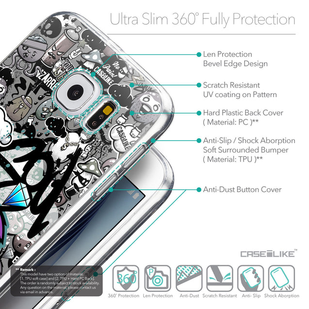 Details in English - CASEiLIKE Samsung Galaxy S6 back cover Graffiti 2706