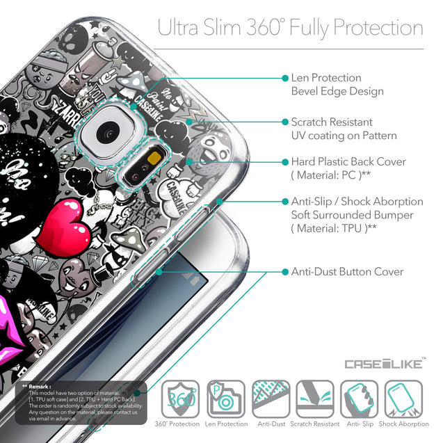 Details in English - CASEiLIKE Samsung Galaxy S6 back cover Graffiti 2708