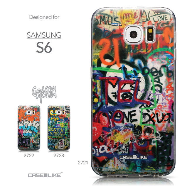 Collection - CASEiLIKE Samsung Galaxy S6 back cover Graffiti 2721