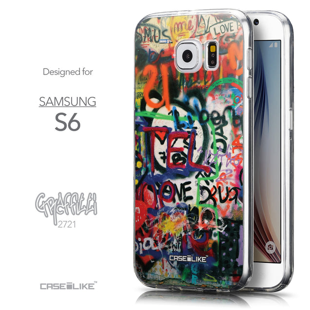 Front & Side View - CASEiLIKE Samsung Galaxy S6 back cover Graffiti 2721