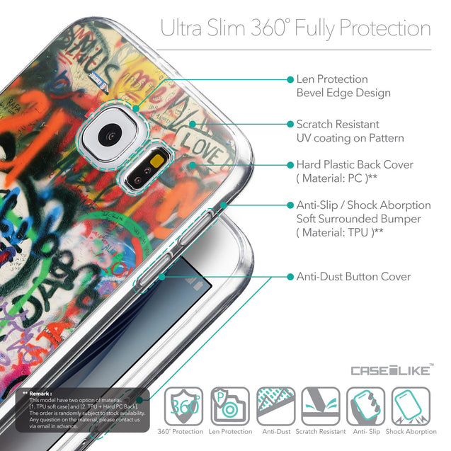 Details in English - CASEiLIKE Samsung Galaxy S6 back cover Graffiti 2721
