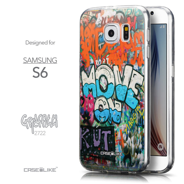 Front & Side View - CASEiLIKE Samsung Galaxy S6 back cover Graffiti 2722