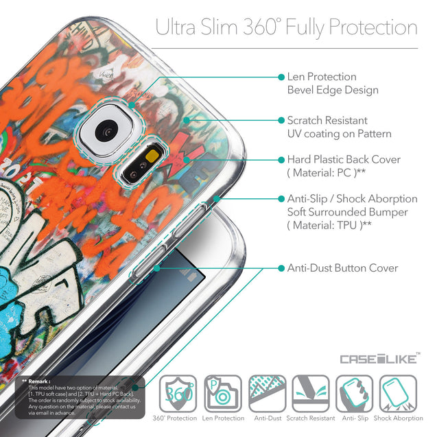 Details in English - CASEiLIKE Samsung Galaxy S6 back cover Graffiti 2722