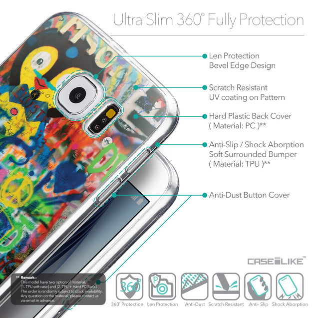 Details in English - CASEiLIKE Samsung Galaxy S6 back cover Graffiti 2723