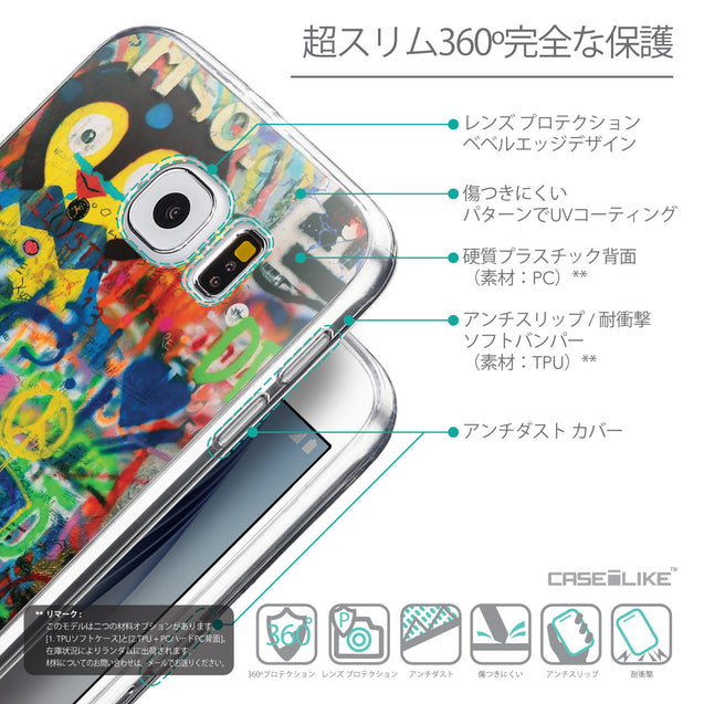 Details in Japanese - CASEiLIKE Samsung Galaxy S6 back cover Graffiti 2723