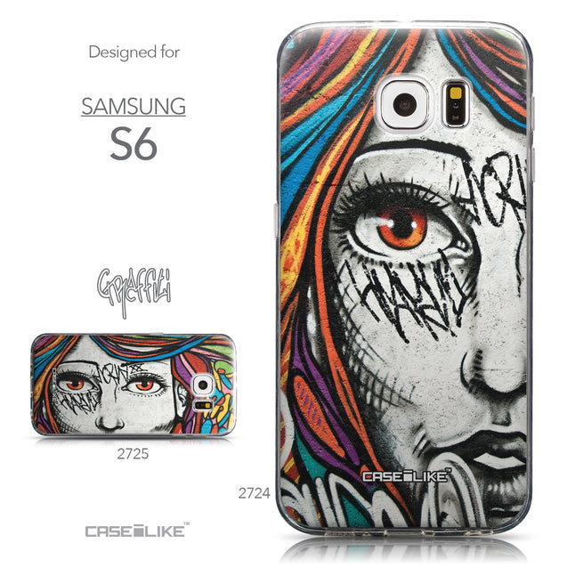 Collection - CASEiLIKE Samsung Galaxy S6 back cover Graffiti Girl 2724