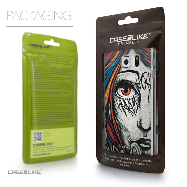 Packaging - CASEiLIKE Samsung Galaxy S6 back cover Graffiti Girl 2724