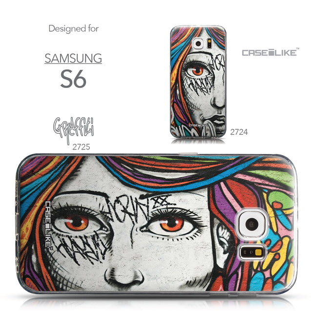 Collection - CASEiLIKE Samsung Galaxy S6 back cover Graffiti Girl 2725