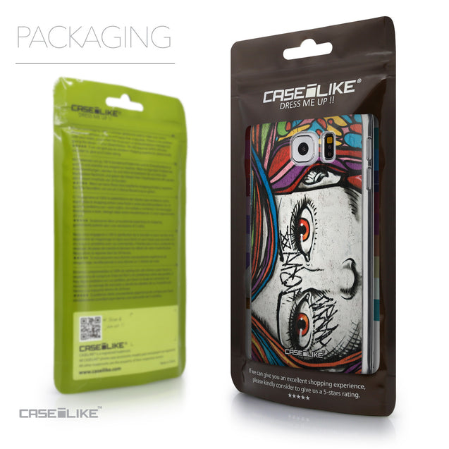 Packaging - CASEiLIKE Samsung Galaxy S6 back cover Graffiti Girl 2725