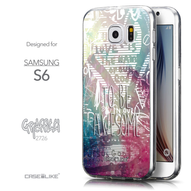 Front & Side View - CASEiLIKE Samsung Galaxy S6 back cover Graffiti 2726