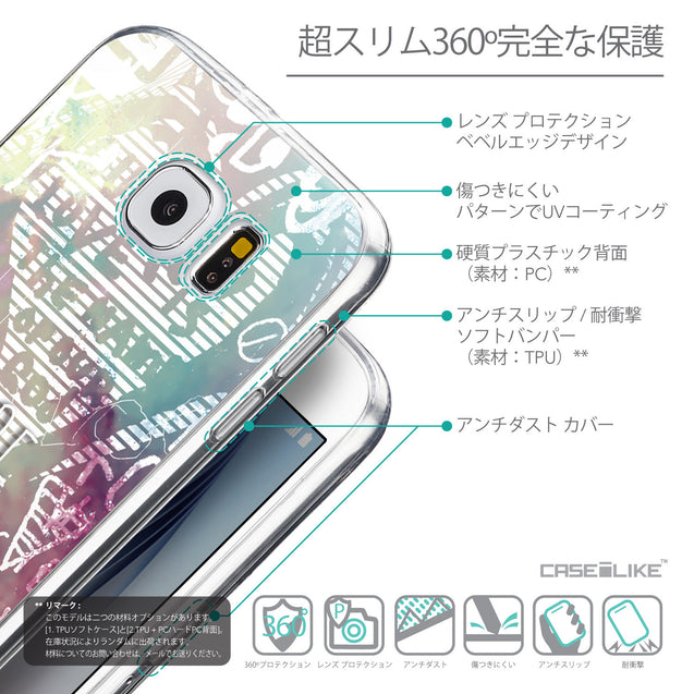 Details in Japanese - CASEiLIKE Samsung Galaxy S6 back cover Graffiti 2726
