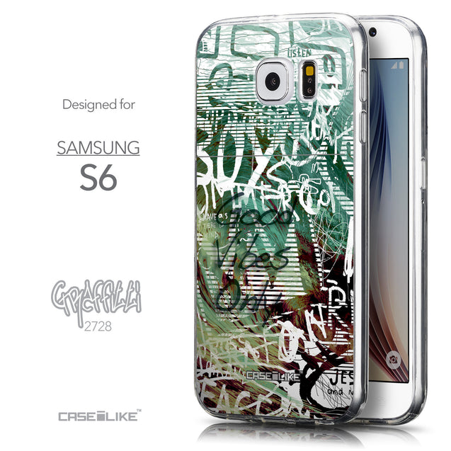 Front & Side View - CASEiLIKE Samsung Galaxy S6 back cover Graffiti 2728