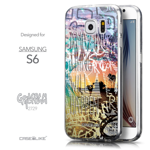 Front & Side View - CASEiLIKE Samsung Galaxy S6 back cover Graffiti 2729
