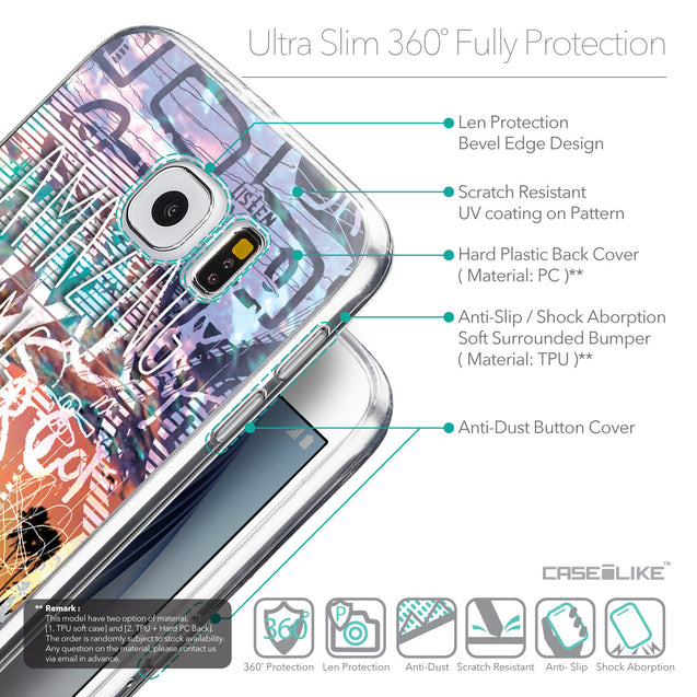 Details in English - CASEiLIKE Samsung Galaxy S6 back cover Graffiti 2729