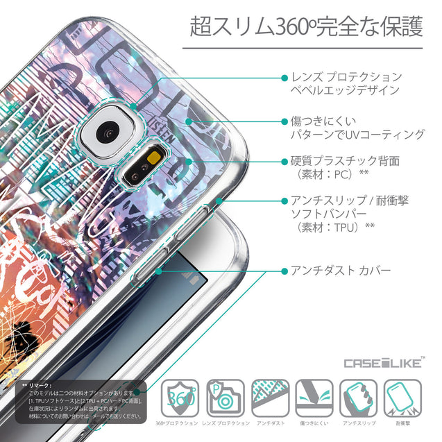 Details in Japanese - CASEiLIKE Samsung Galaxy S6 back cover Graffiti 2729