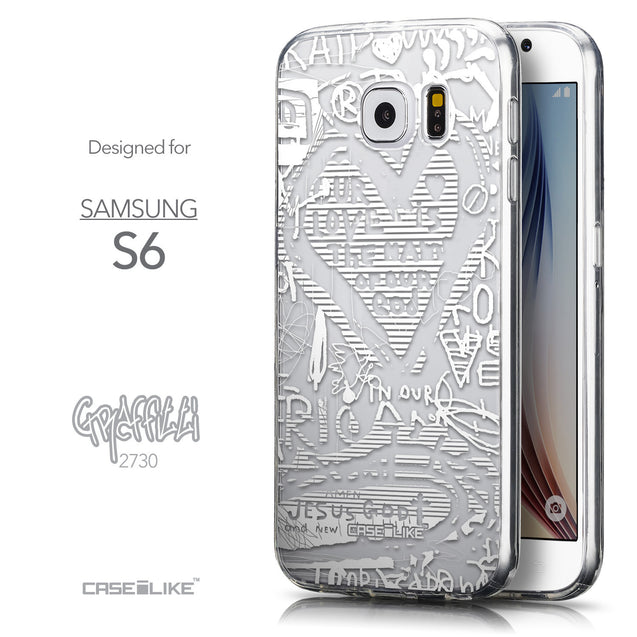 Front & Side View - CASEiLIKE Samsung Galaxy S6 back cover Graffiti 2730