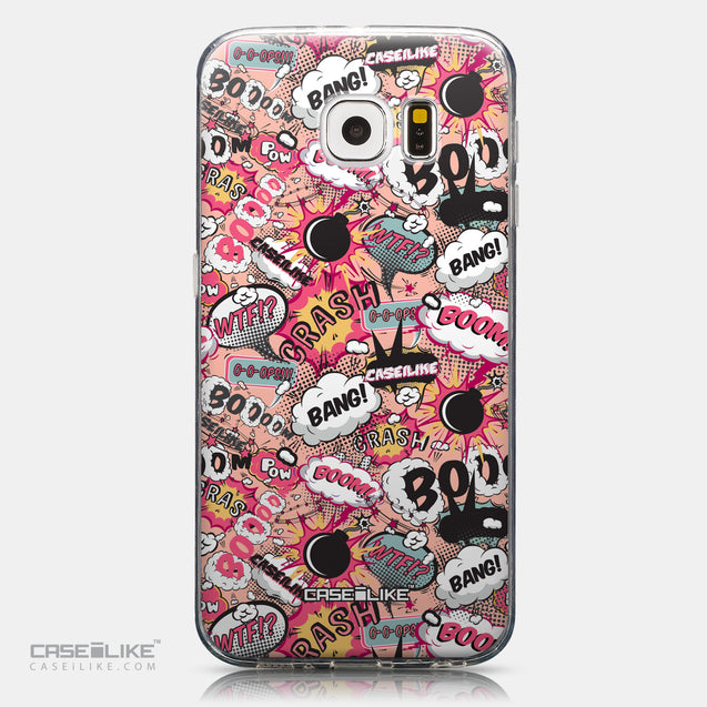 CASEiLIKE Samsung Galaxy S6 back cover Comic Captions Pink 2912