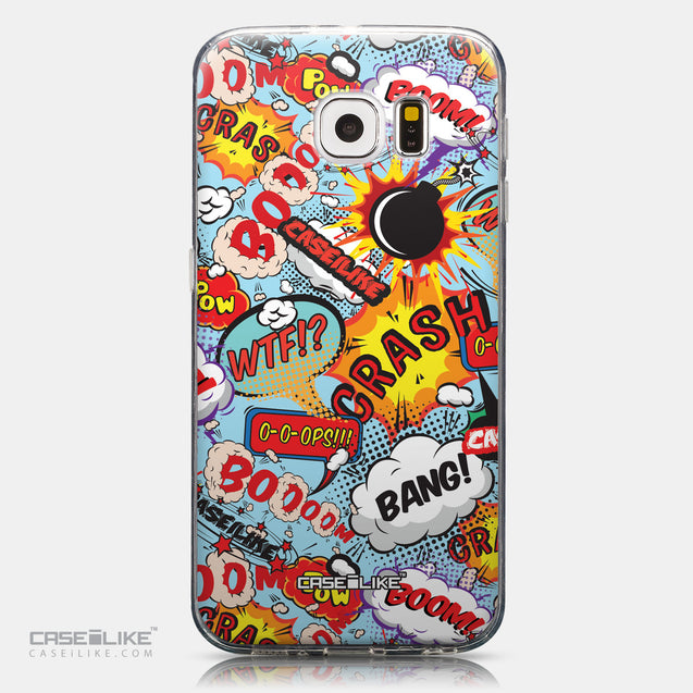 CASEiLIKE Samsung Galaxy S6 back cover Comic Captions Blue 2913
